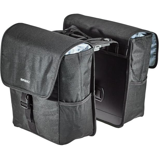 Basil GO Doppel-Gepäckträgertasche MIK 32l solid black