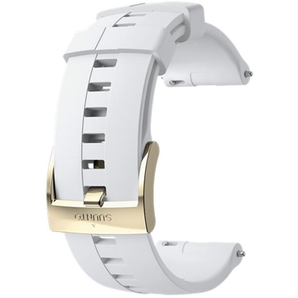 Suunto Athletic 4 Silicone Strap white/gold