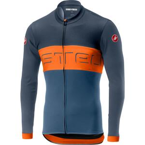 Castelli Prologo VI Langarm Full-Zip Trikot Herren dark blue/orange/light blue dark blue/orange/light blue
