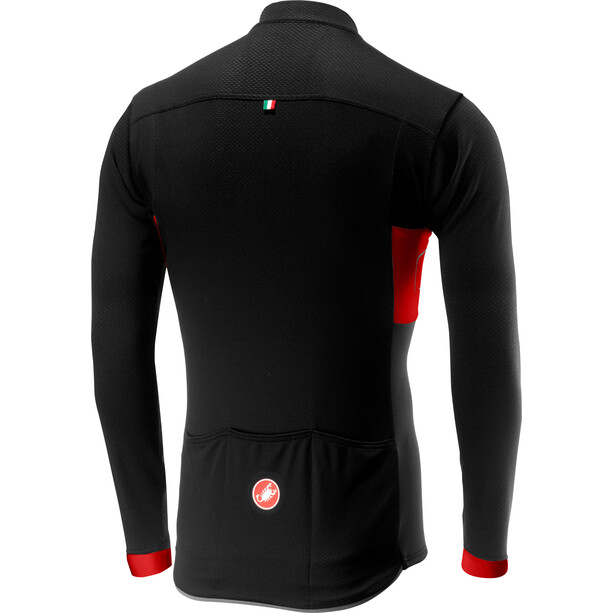 Castelli Prologo VI Langarm Full-Zip Trikot Herren black/red/black