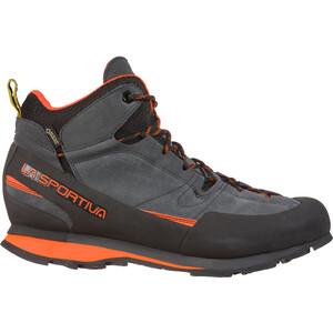 La Sportiva Boulder X Mid Schuhe Herren carbon/flame carbon/flame