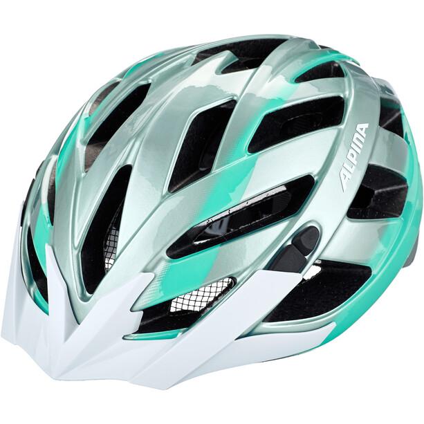 Alpina Panoma 2.0 Cykelhjelm, sølv/petroleumsgrøn