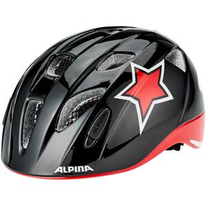 Alpina Ximo Flash Helm Kinder black-red-white star black-red-white star