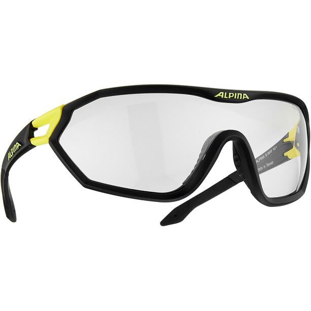 Alpina S-Way VL+ Cykelbriller, sort/gul