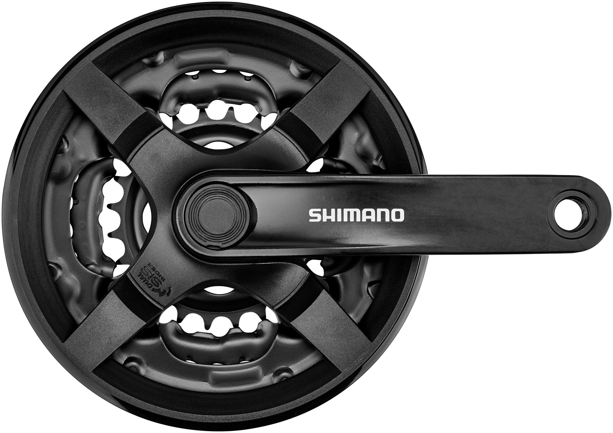 Shimano Kurbelgarnitur FC-TY301 Vierkant 6//7//8-fach 150mm 42-34-24 Zähne