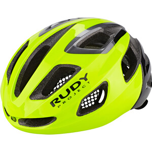 Rudy Project Strym Casque, yellow fluo shiny yellow fluo shiny