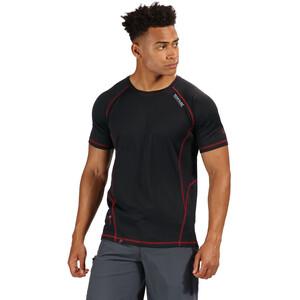 Regatta Virda II T-Shirt Herren black/classic red black/classic red
