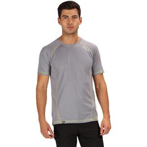 Regatta Virda II T-Shirt Herren rock grey/lime punch rock grey/lime punch