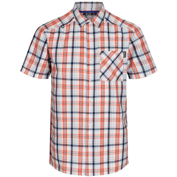 Regatta Mindano IV Kurzarmhemd Herren blaze orange check