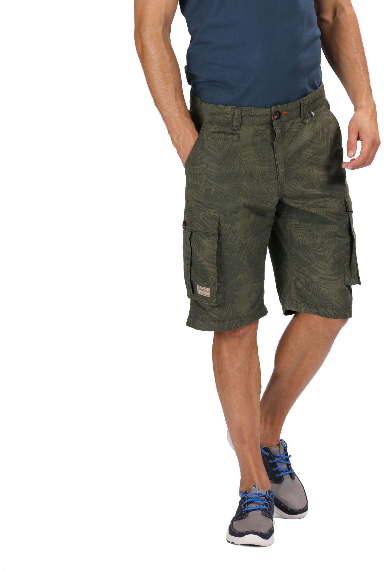 Fubotevic Men Summer Rugged Board Shorts Beach Swim Trunk Plain Cargo Shorts