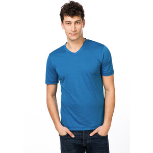 super.natural Base 140 V-Ausschnitt T-Shirt Herren vallarta blue/navy blazer vallarta blue/navy blazer