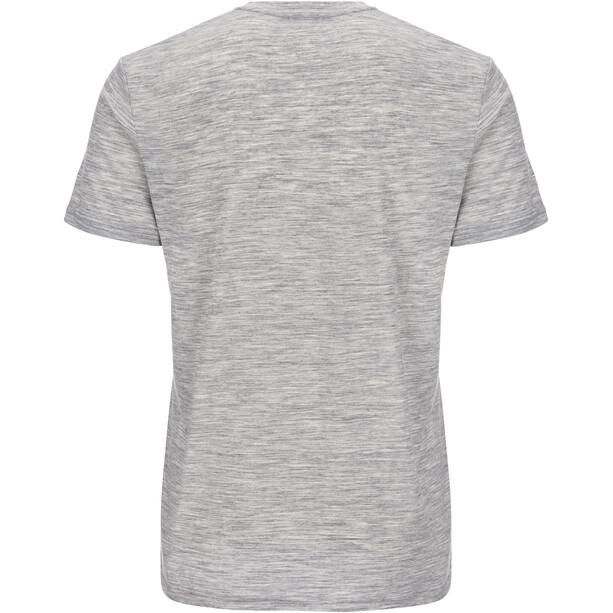 super.natural Graphic T-Shirt Herren ash melange/killer khaki camper print