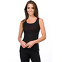 super.natural Rib Tank Top Damen jet black