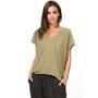 super.natural Jonser T-paita Naiset, oliivi