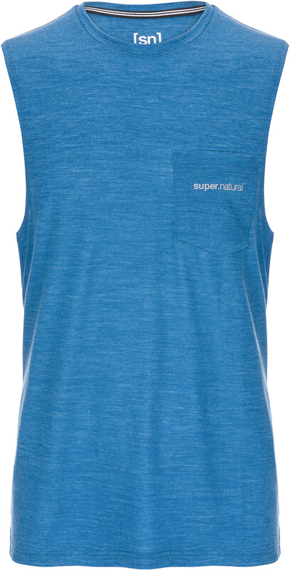 super.natural M's Movement Tanktop Vallarta Blue Melange S 2019 Yoga klær