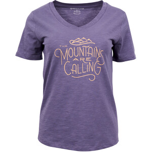 United By Blue Mountains Are Calling Kurzarm Graphic T-Shirt Damen dusty purple dusty purple
