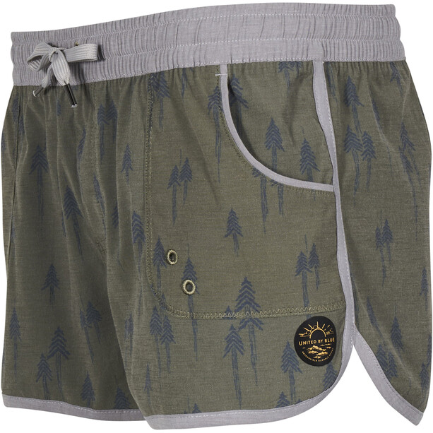 United By Blue Painted Pines Boardshorts Damen olive