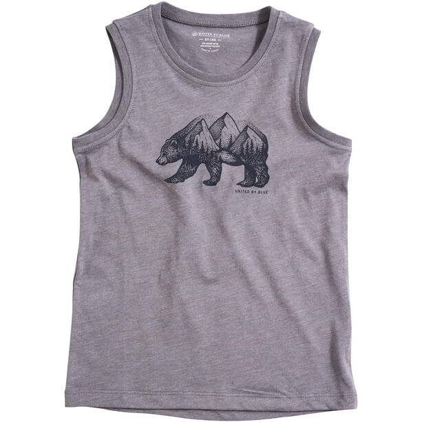 United By Blue Places You'll Go Tank Jungen steel grey