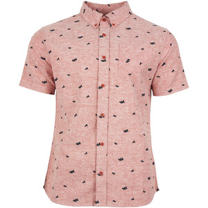 United By Blue Norde Stretch SS Button Down Herr canyon orange-mtn peaks canyon orange-mtn peaks