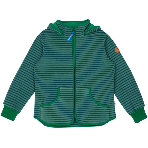 Finkid Tonttu Striped Fleece Jacket Barn trellis/leaf