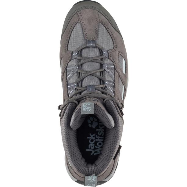 Jack Wolfskin Vojo Hike 2 Texapore Mid-Cut Schuhe Damen tarmac grey