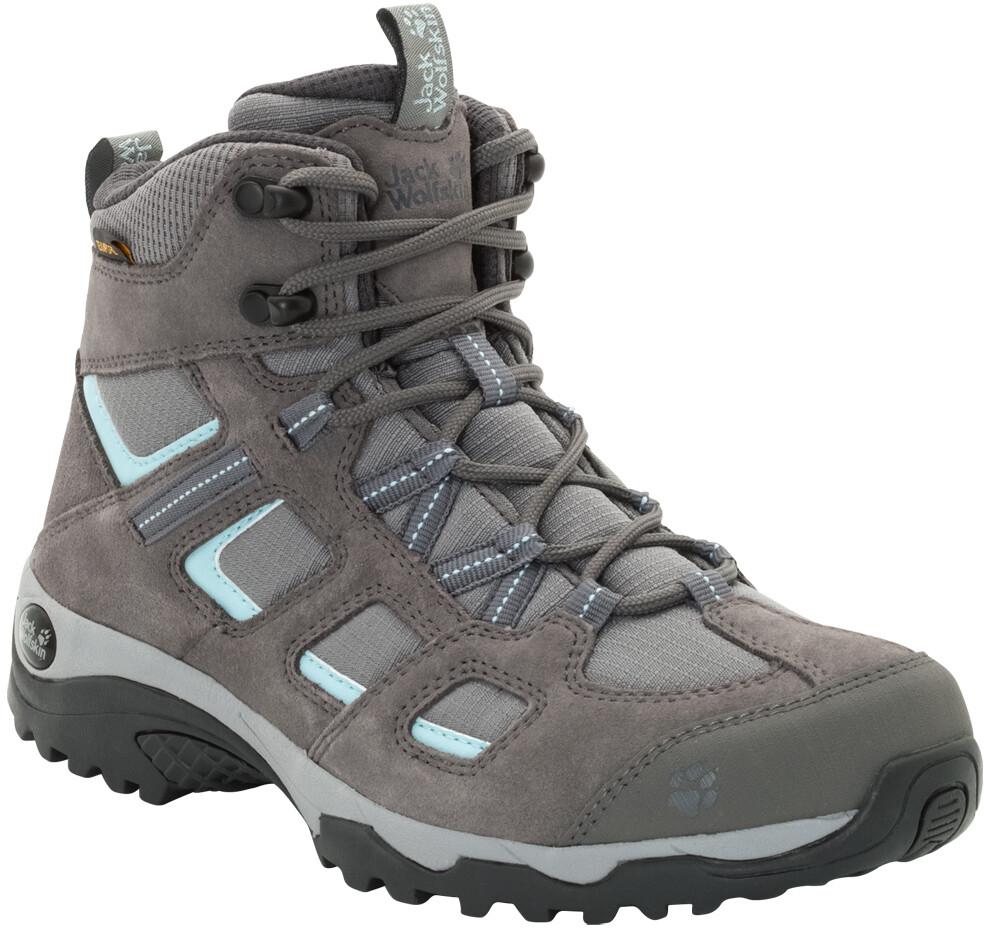 Jack Wolfskin Vojo Hike 2 Texapore Mid Cut Schuhe Damen tarmac grey