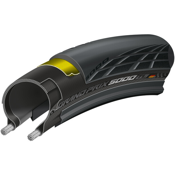"""Continental GrandPrix 5000 Tubeless Faltreifen 28x1,25"""" schwarz/schwarz-skin"""
