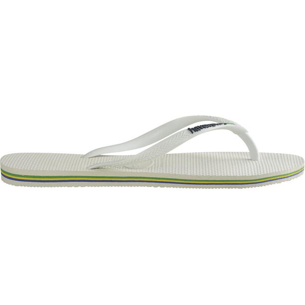 havaianas Slim Animals Flips Damen white/coralnew