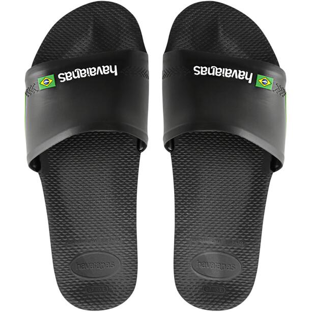 havaianas Brasil Slides black