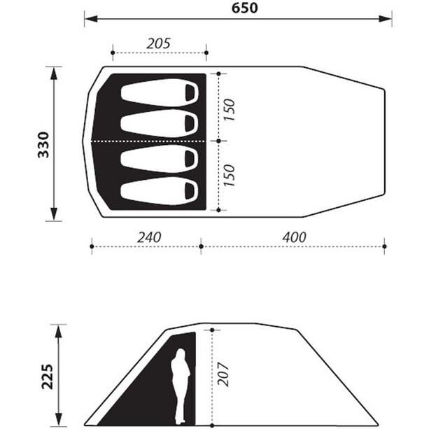 Nomad Dogon 4 (+2) Air Zelt twill