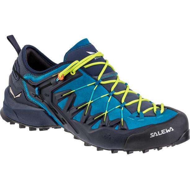 SALEWA Wildfire Edge Shoes Herr premium navy/fluo yellow