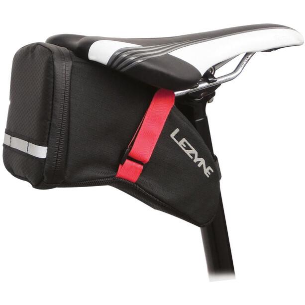 Lezyne Caddy Aero Satteltasche schwarz-rot