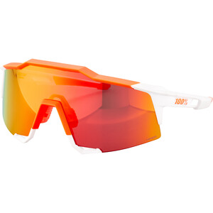 100% Speedcraft HD Multilayer/Hiper Cykelbriller Tall, soft tact day glo orange/white soft tact day glo orange/white