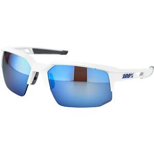 100% Speedcoupe Aurinkolasit, valkoinen/sininen valkoinen/sininen