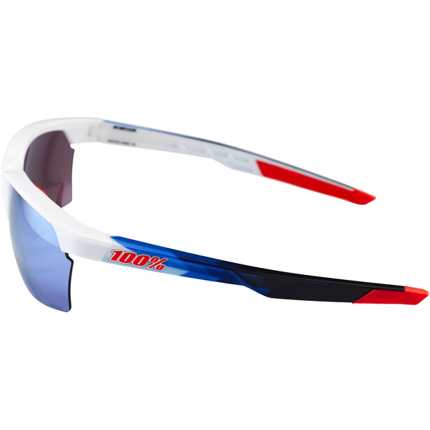 100% Sportcoupe Brille polished white/geo pattern