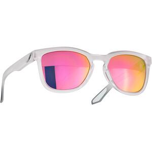 100% Hudson Multilayer Mirror Glasses translucent crystal clear translucent crystal clear