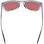 100% Hudson Hiper Red Multilayer Mirror Lunettes, transparent