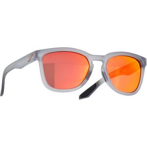 100% Hudson Hiper Red Multilayer Mirror Glasses translucent crystal grey translucent crystal grey