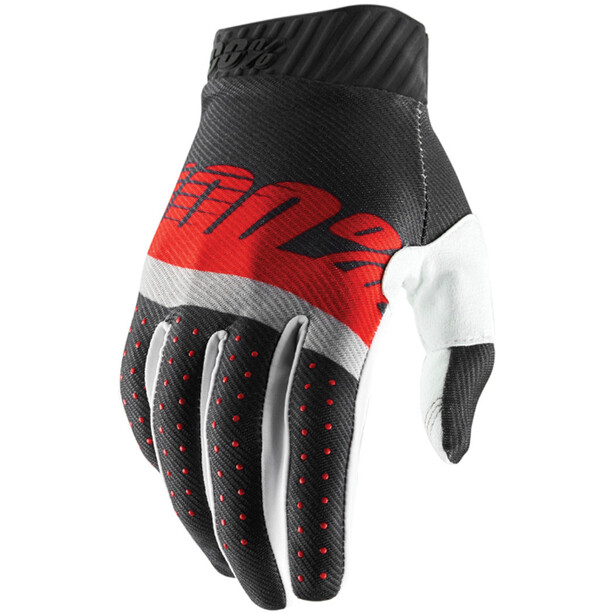 100% Ridefit FA18 Handschuhe steel grey/red