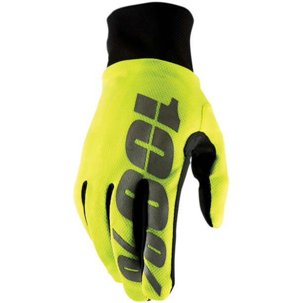 100% Hydromatic Waterproof Handschuhe neon yellow