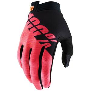 100% iTrack Handschuhe black/fluor red black/fluor red