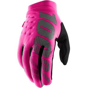 100% Brisker Cold Weather Cykelhandsker Damer, pink/sort pink/sort