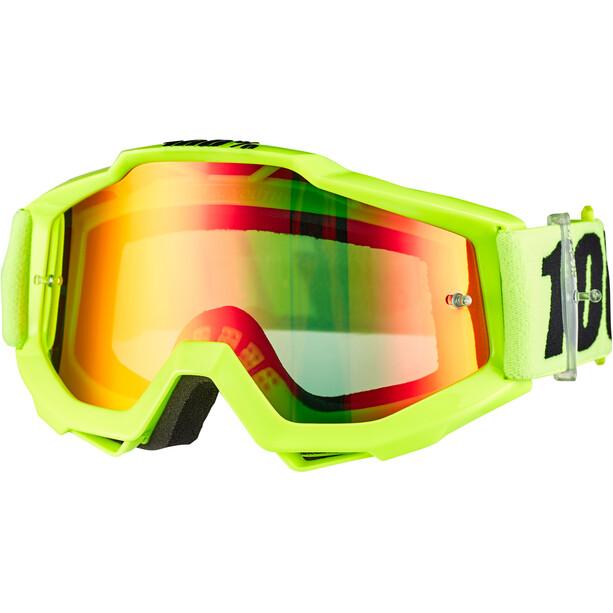 100% Accuri Anti Fog Mirror Goggles Jugend fluo yellow