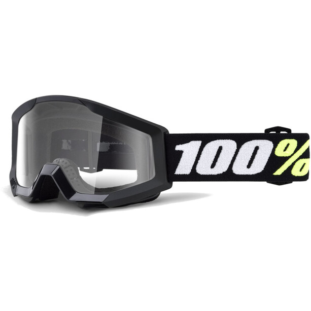 100% Strata Mini Anti Fog Clear Goggles Kinder black