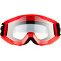 100% Strata Mini Anti Fog Clear Goggles Kinder red