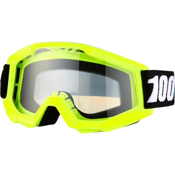 100% Strata Mini Anti Fog Clear Goggles Kinder yellow