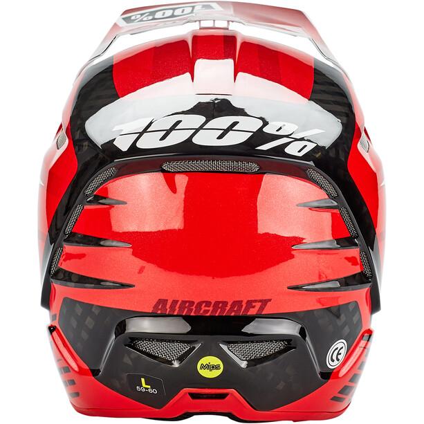 100% Aircraft DH Helm incl. Mips dexter red
