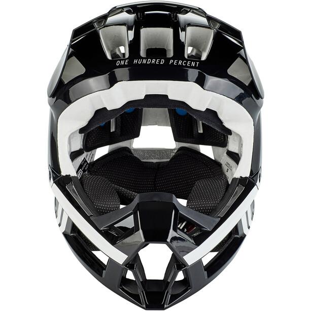 100% Trajecta Helmet black/white