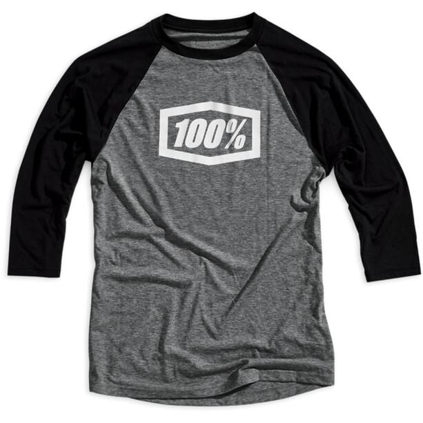 100% Essential 3/4 Tech T-Shirt Herren grey/black