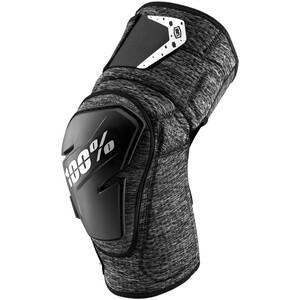 100% Fortis Protectores de rodilla, gris/negro gris/negro